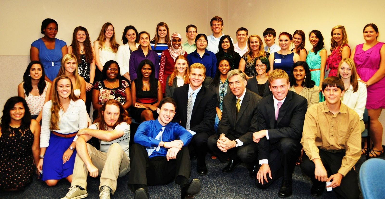 "Students with then National Security Agency Deputy Director John ""Chris"" Inglis."